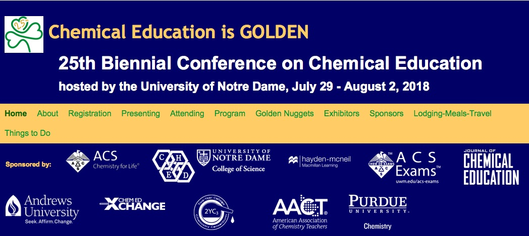 25th Biennial Conference on Chemical Education Home Page Image